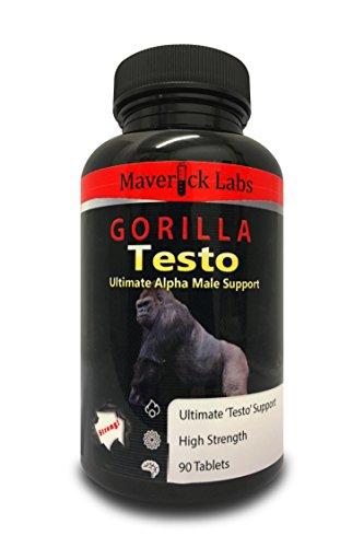 Gorilla-Testosteron – Die Testosteron (Booster) Turbo-Pille für den Mann – Werden Sie zum Alpha-Tier – Für anabolisches Muskelwachstum und mehr (völlig legal) – 90 Kapseln (Männer, Sexuelle Verbesserungs-pillen)
