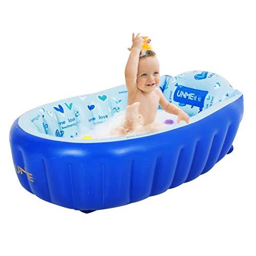 Duschen Aufblasbare Badewanne Badewanne Haushaltsgegenstände Kinderwanne Haushalt Kann In Der Badewanne Sitzen rutschfeste Kinderaufblasbare Babywanne (Color : Blue, Size : 110 * 55 * 30cm) -