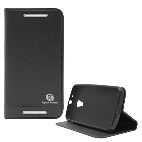Popular Raiders Magnetic Wallet Flip Folio Stand Book Cover Case For Motorola Moto G 2nd Gen (Black)