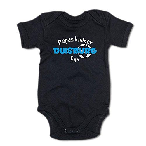 G-graphics Papas Kleiner Duisburg Fan Baby-Body (250.0254) (3-6 Monate, schwarz)