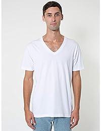 American Apparel - T-shirt à manches courtes et col en V - Homme