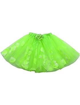 Topgrowth Gonna di Tulle Bambina Ragazza Principessa Tutu Gonne Balletto Vestito Floreale Sottoveste Mini Abito