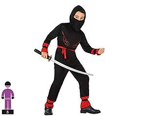 Atosa- Disfraz Ninja, Color rojo, 3 a 4 años (39952)