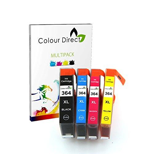 Colour Direct Combo Pack Kompatibel 364XL Druckerpatronen - 1 Schwarz (550 Seiten)...