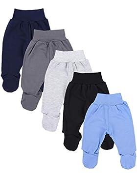 TupTam Baby Unisex Hose mit Fuß Bunte 5er Pack