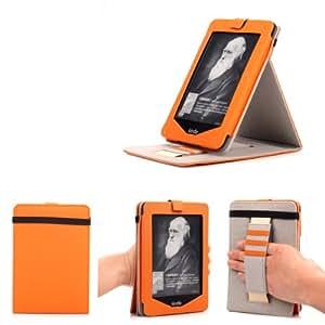 """Mulbess - Amazon Nouvo Kindle 2014 6"""" eReader eBook Stand Case Cover- Custodia in pelle Con Supporti Stand per Kindle Nuovo schermo touch 2014 Colore Arancione"""