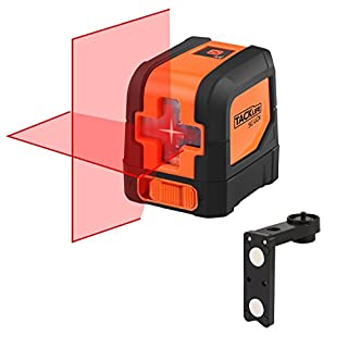 Tacklife SC L01 Classic cross line Laser with a 10m Range, Tilt function, 110 degree self-levelling Cross Line Laser, IP 54, Dust and Splash Protected (with Case).