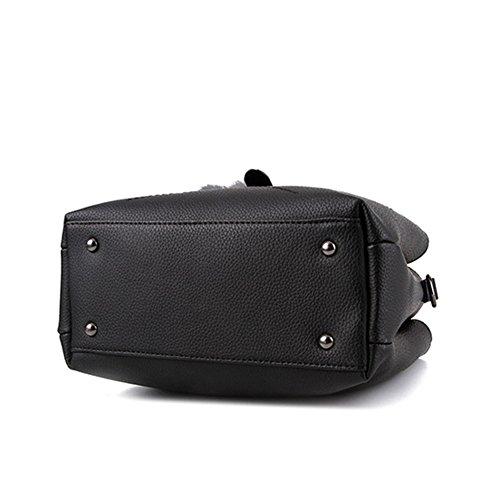Donna PU Pelle Borsa A Tracolla Tote Bag Borse A Mano Blu Rosso Marrone