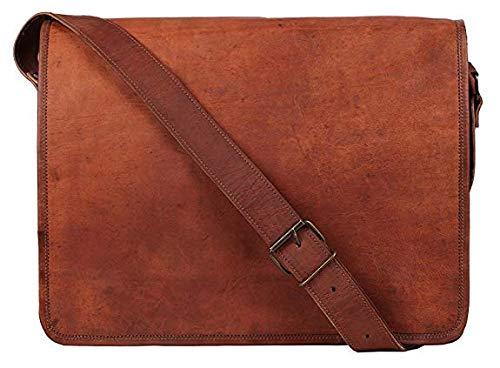 1952f53f1b Krish, borsa messenger in pelle, a patta intera, per portatile da 15'