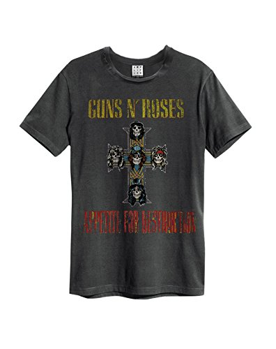 Amplified ufficiale GUNS N ROSES - Appetite for Destruction - Maglietta da uomo, colore: carbone Charcoal XXL