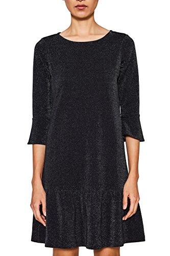ESPRIT Damen Kleid 117EE1E028, Schwarz (Black 001), Medium