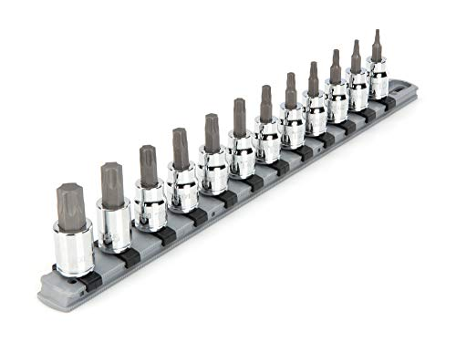 TEKTON 3/8 Inch Drive Torx Bit Socket Set, 12-Piece (T10-T60) | SHB91103 -