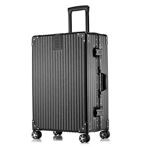 Großer Koffer Hardside Gepäck Koffer (Farbe : Schwarz, Größe : 24INCHES) (Gepäck Hardside Schwarz)
