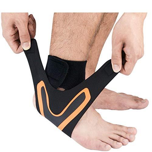 1PC Compression Knöchelschützer Anti Verstauchung im Freien Basketball Fußball Knöchelbandage unterstützt Straps Bandage Wrap Fuß Sicherheit,normaler Oranger,XL Rechts