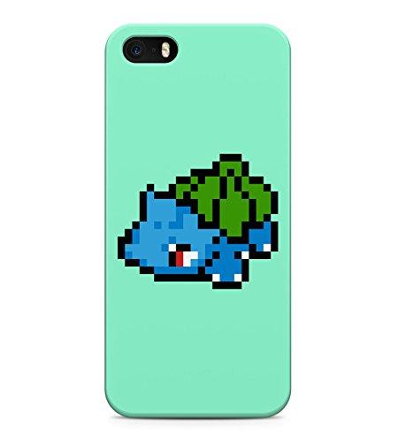 8 Bit Pokemon Pixel Bulbasaur Ivysaur Venusaur Hard Plastic Snap On Back Case Cover For iPhone 5 / 5s Custodia