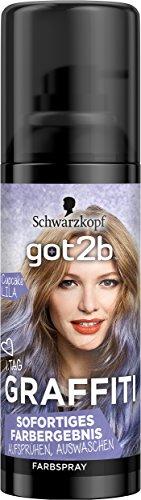 Schwarzkopf Got2b Graffiti Spray Haarfarbe, Cupcake Lila, 3er Pack (3 x 120 ()