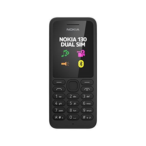 "Nokia 130 Telefono Cellulare, Display da 1.8"", Dual SIM, Radio FM, Nero [Italia]"