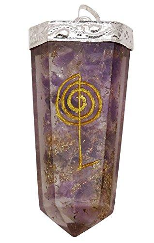 HARMONIZE Améthyste Épée Orgone Pendentif Reiki Thérapie De Guérison D'Équilibrage Cristal Chakra Spirituel