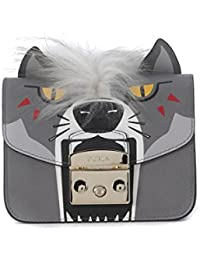 Borsa a tracolla Furla Metropolis Jungle Wolf in pelle grigia