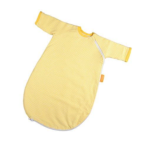 Hoppediz Baby-Schlafsack 44-50 gelb gestreift