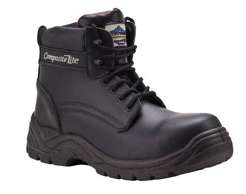 Compositelite Chaussures de sécurité en cuir imperméables Embout sans métal Semelle intercalaire - 6.5 UK Noir
