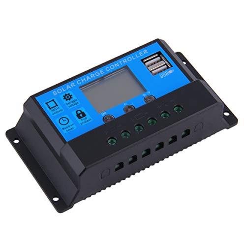 Preisvergleich Produktbild Heißer Selling20A 12 / 24V Selbstschalter-Solarladeregler LED-Anzeige 2 USB-Häfen geben Verschiffen frei