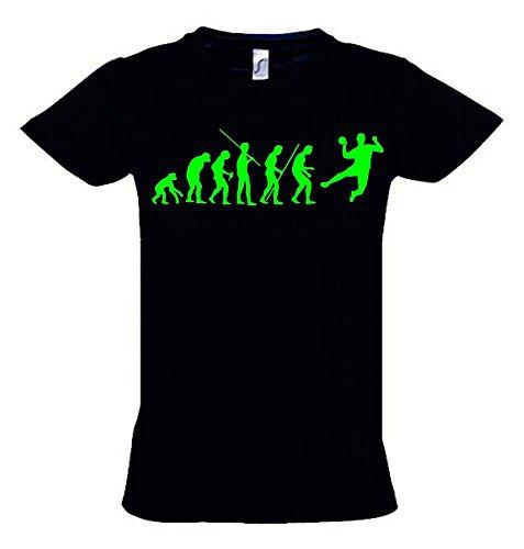 HANDBALL Evolution Kinder T-Shirt schwarz-green, Gr.164cm