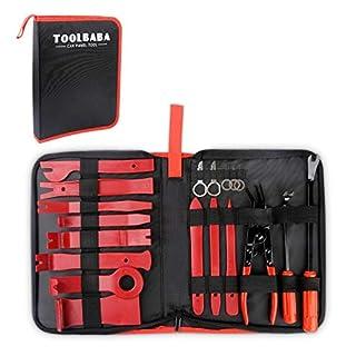 Demontage Werkzeug Auto,TOOLBABA 19 stück Zierleistenkeile Verkleidungs Werkzeug für Demontagen von Auto Audio/Radio,Auto Zubehör Removal Reparatur Werkzeuge