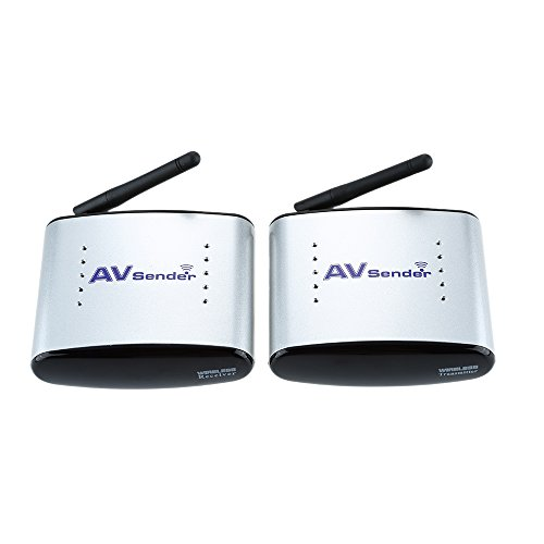 Andoer® Emisor Inalámbrico de Audio & Video Sistema Transmisor & Receptor Inalámbrico 150M PAT-330 2.4G para DVD / DVR / IPTV / CCTV Cámara / TV