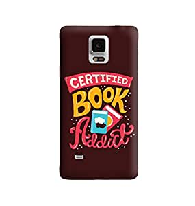 The Fappy Store certified book addict plastic back cover For Samsung note 4