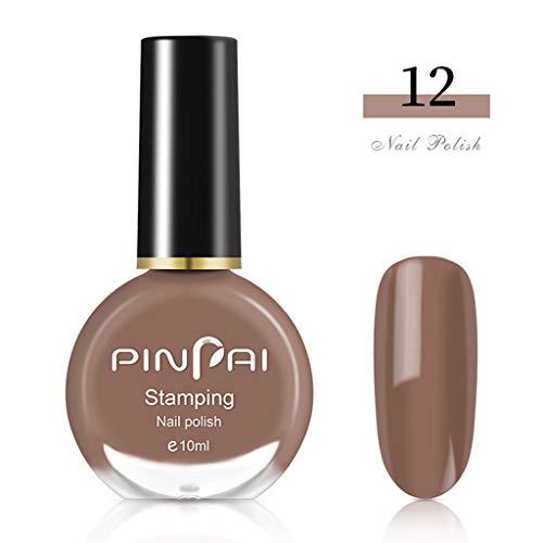 Cwemimifa Perfekt Glänzende Nägel,Neuer Duft bereifte Mattflaschen-Nagellack-Süßigkeit 30 Farben 10ML,#12 - 8 Ml Farbe Glänzend
