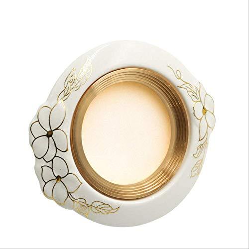 SQWKführte 5pcs / lot geführte Decke vertiefte Downlights Schnitt-Loch-Europa-Art-keramische Punkt-Lampe 120x55mm warmes weißes goldeneskeramisches 7W -