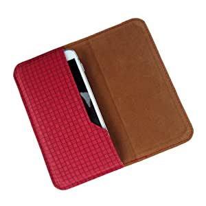 i-KitPit : PU Leather Flip Pouch Case Cover For Sony Xperia Neo L (RED)