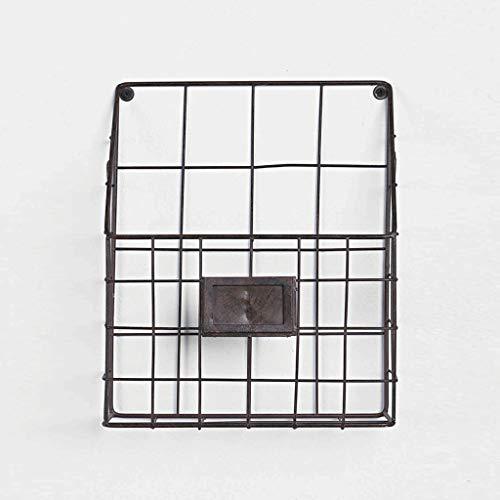 Cjh moderno e minimalista in ferro battuto sospeso a muro portariviste scaffale a muro scaffale giornale cremagliera soggiorno ufficio semplice rack nero