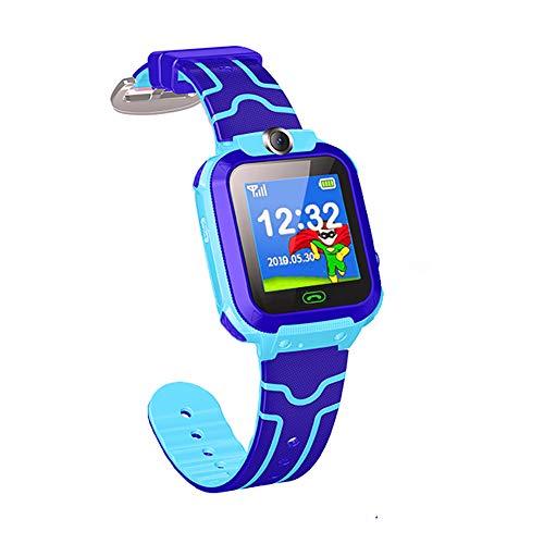 BELUPAI Children's Phone Watch,Waterproof Smart Watch Kids Q12B Camera Phone Watch with GPS GSM Locator Touch Screen Tracker SOS for Girls Boys Children