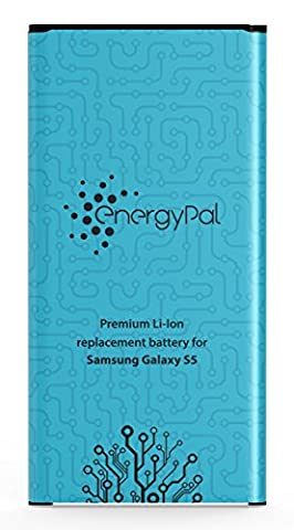 EnergyPal Galaxy S5 Battery, 2800 mAh Li-Ion Replacement Battery for Samsung Galaxy S5 with NFC
