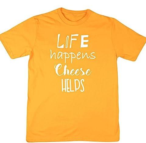 HippoWarehouse - T-shirt - Homme - jaune - XX-Large