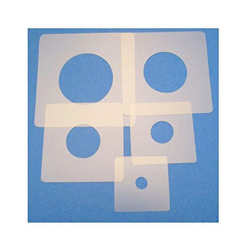 Schablonen Set ● 5 einzelne Kreise ● 1 cm, 2cm, 3cm, 4cm, 5cm groß - Schablone Runde