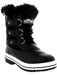 a84dd809dceb Womens Snow Boot Nylon Short Winter Snow Rain Warm Waterproof Boots