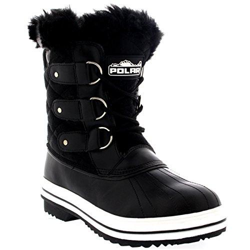 Damen Schnee Stiefel Nylon Short Schnee Pelz Regen Wasserdicht Stiefel Schwarz Wildleder