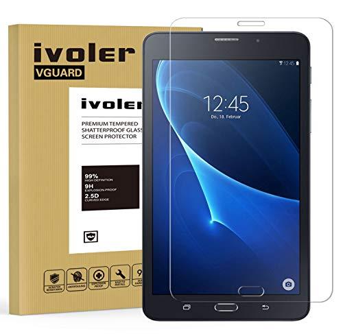 Samsung Galaxy Tab A 7.0 Zoll 2016 (SM-T280N / T285N) Panzerglas Schutzfolie, VGUARD Premium Panzerglasfolie folie Displayschutzfolie Hartglas Gehärtetem Glas DisplayPanzerglas Displayschutz