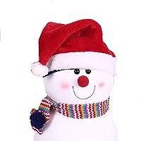 HEJIANGTAO Fiesta Diurna de Alto vellón para niños Adultos Sombrero de Navidad, Sombrero de Navidad para niños