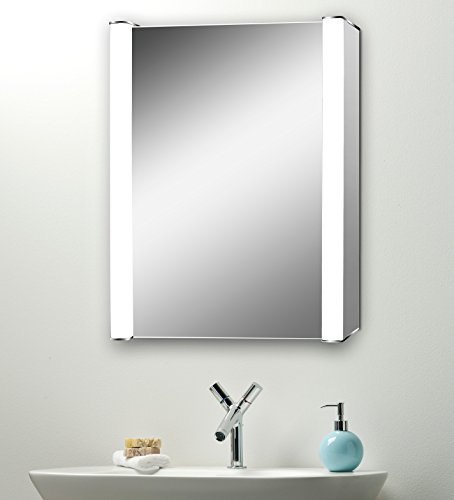 LED Illuminated Bathroom Mirror Cabinet C11 With Demister, Shaver, Sensor  Switch and LED Lights 70cm(H) x 50cm(W) x 13cm(D)
