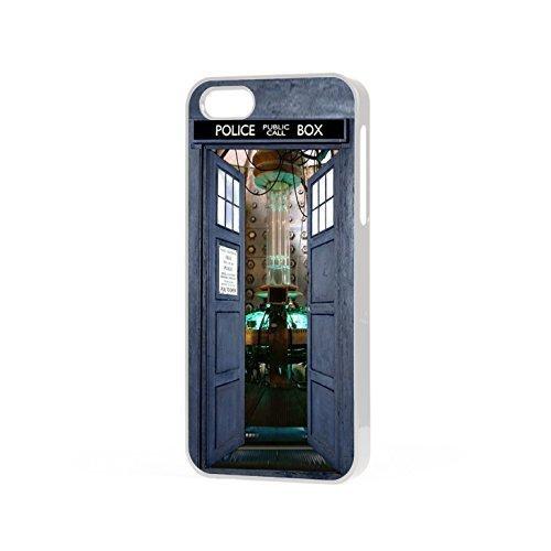 EBUK Dr Who Open Tür Tardis Police Box Sci-Fi Science Fiction Handyhülle Passend für Das Apple iPhone (Alle Modelle) Inoffiziell - Weiß, iPhone 6/6s -