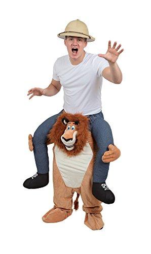 Bristol Novelty AF001 Huckepack Löwe (Erwachsene Einfache Halloween Kostüme Ideen)