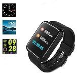 Cardiofrequenzimetro fitness tracker e pressione, impermeabile Smartwatch da running sport per contatore di calorie per iOS smartphone Android