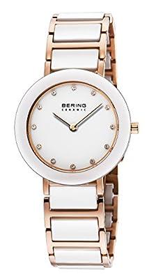 Bering Time - Reloj de cuarzo para mujer, correa de diversos materiales multicolor de Bering Time