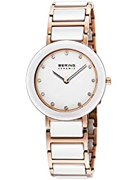 Bering Time Damen-Armbanduhr XS Analog Quarz verschiedene Materialien 11429-766