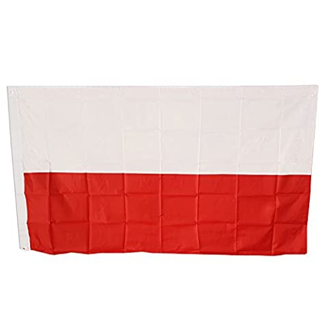 Polish flag Poland, Polska, 5 X 3, 5ft X 3ft, Football, 150cm by 90cm Approx / Two Eyelets / Flag Souvenir! Souvenir / Speicher / Memoria! 5' x 3' Polyester for Celebrating Polish Heritage! Drapeau! / Flagge! / Bandiera! /