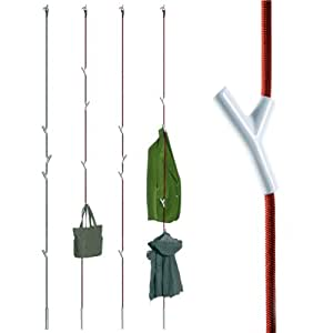 wardrope garderobe seil rot 4 haken wei. Black Bedroom Furniture Sets. Home Design Ideas